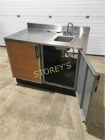 """S/S 2dr Cabinet w/ Hand Sink - 4' x 30"""""""