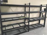 ~2' x 7' x 12' Black Metal Storage - Whalen