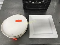 """11"""" Sq. Dinner Plates & 10"""" oval"""