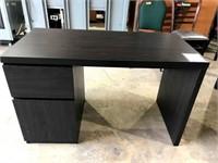 Black 2 Drawer Office Desk