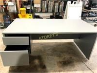 2 Drawer White Office Desk