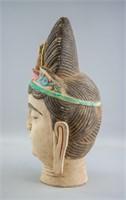 Chinese Large Pottery Guanyin Bodhisattva Head