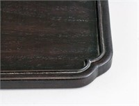 Chinese Wood Carved Rectangle Tray