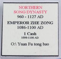 1098-1100 Northern Song Yuanfu Tongbao 1 Cash