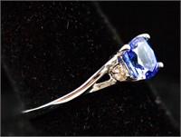 2.0ct Tanzanite & 0.01ct Diamond Ring CRV $1200
