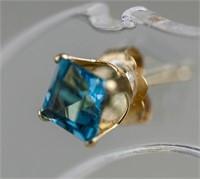 0.73 Blue Topaz Earrings RV $300