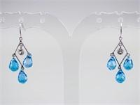 8.6ct Topaz & 0.3ct Sapphire Earrings CRV $1200
