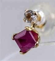 Ruby & Moonstone Earrings RV $250