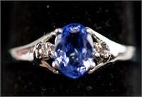 1.0ct Tanzanite & 0.04ct Diamond Ring CRV $1800