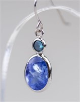 2.3ct Tanzanite & 0.14ct Diamond Earring CRV $1600