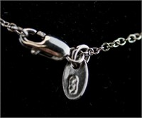 Sterling Silver Tennis Necklace RV $100