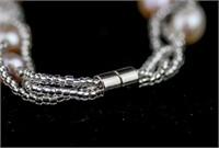 Fresh Water Pearl Necklace & Bracelet RV $300