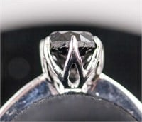 0.85ct Black Diamond Solitaire Ring CRV $1400