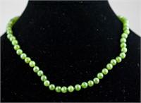 Sterling Silver Jade Necklace RV $300