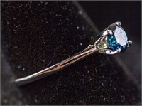 0.56ct Blue Diamond Ring CRV $3300