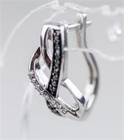0.30ct Black & White Diamond Earrings CRV $800