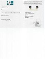 1.40 ct Black Diamond Earrings CRV $1200