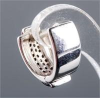 18k White Gold 1ct Diamond Earrings CRV: $3,200