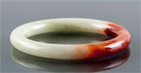 Burma Mixed Green and Red Tone Jadeite Bangle