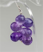 14ct Amethyst Earring RV $800