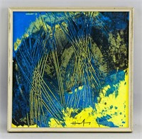 German Lyrical Abstraction OOC Signed Hans Hartung