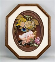 Chinese Qing Dynasty Embroidery Decoration Framed