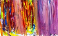 American Abstract Oil on Canvas Joan Mitchell