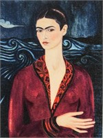 Mexican Color Lithograph Signed Frida Kahlo
