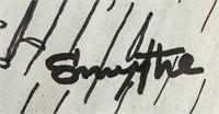 British Pop Art Mixed Media on Paper Signed Smythe