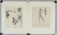 Two Etchings on Paper Signed William Walcot