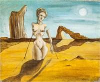 Spanish Surrealist Dada Cubist OOB Signed Dali