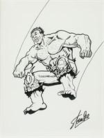 American Pop Art Ink Signed Stan Lee