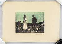 Norwegian Expressionist Lithograph Signed Ed Munch