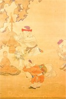 Chen Hongshou 1598-1652 Chinese Watercolor Scroll