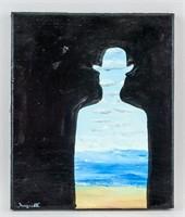 Belgian Surrealist OOC Signed Magritte