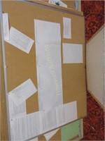 Grouping of cork board
