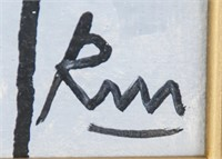 US Abstract Expressionist Robert Motherwell