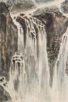 Feng Jianwu 1910-1989 Watercolour on Paper Roll