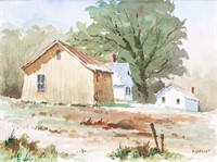 Edward Garbely 1908-1999 US Watercolor Landscape