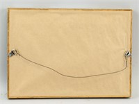 Polish Oil on Paper Portrait Signed Lempicka