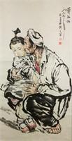 Liu Wenxi b.1933 Chinese Watercolor Scroll