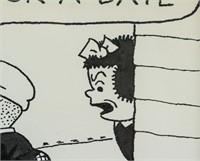 American Pop Art Ink Signed Ernie Bushmiller