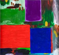 American Abstract Oil on Canvas Signed Hofmann