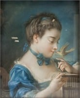 French Rococo Pastel Signed Francois Boucher