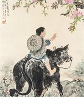 Xu Beihong Chinese 1895-1953 WC on Paper Scroll