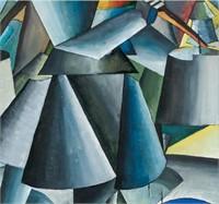 Russian Suprematist Gouache Kazemir Malevich