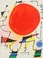 Spanish Surrealist  Lithograph Signed Joan Miro