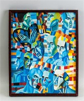 Russian Analytical Realism Gouache Pavel Filonov