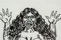 American Pop Art Ink on Paper Signed ROBERT CRUMB