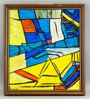 American Cubist Oil on Canvas Signed Karl Knaths